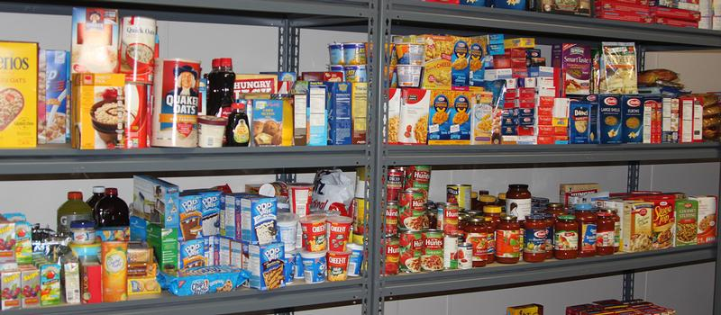 HCC's food pantry.