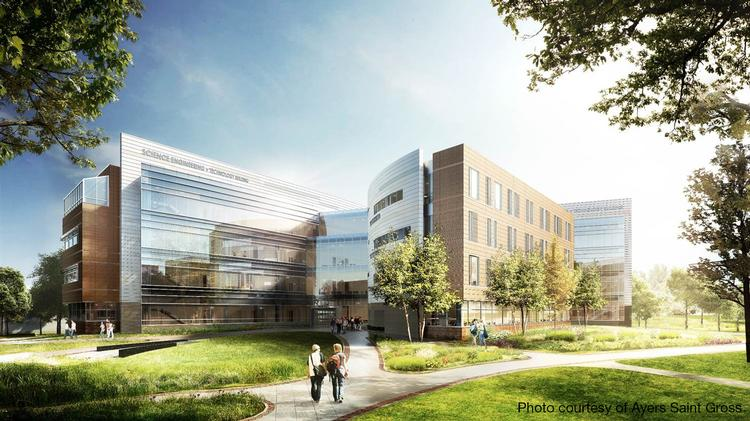 Science, Engineering and Technology building rendering