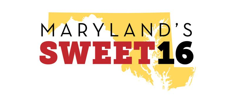 The logo for Maryland's sweet 16.