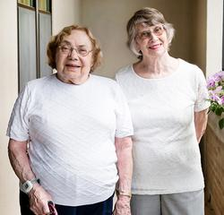 A profile picture of Helen and Marcia.