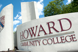 Howard Community College entrance sign