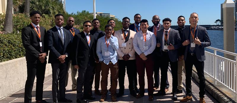 Students at the Black Brown and College Bound Conference in Tampa.