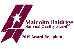 Malcolm Baldrige national quality aware 2019 award recipient