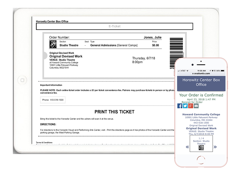 Print at Home Mobile Tickets