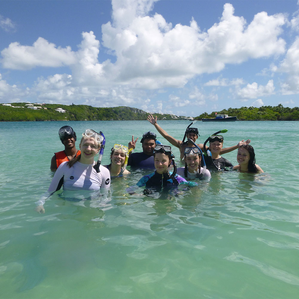Students abroad in Bermuda