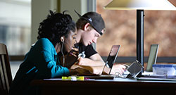 students studying at a computer
