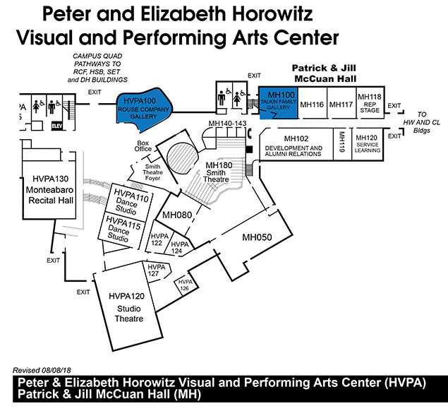 Horowitz Visual and Performing Arts Center Map