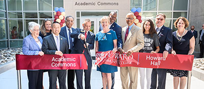 Academic Commons Ribbon cutting at HCC.