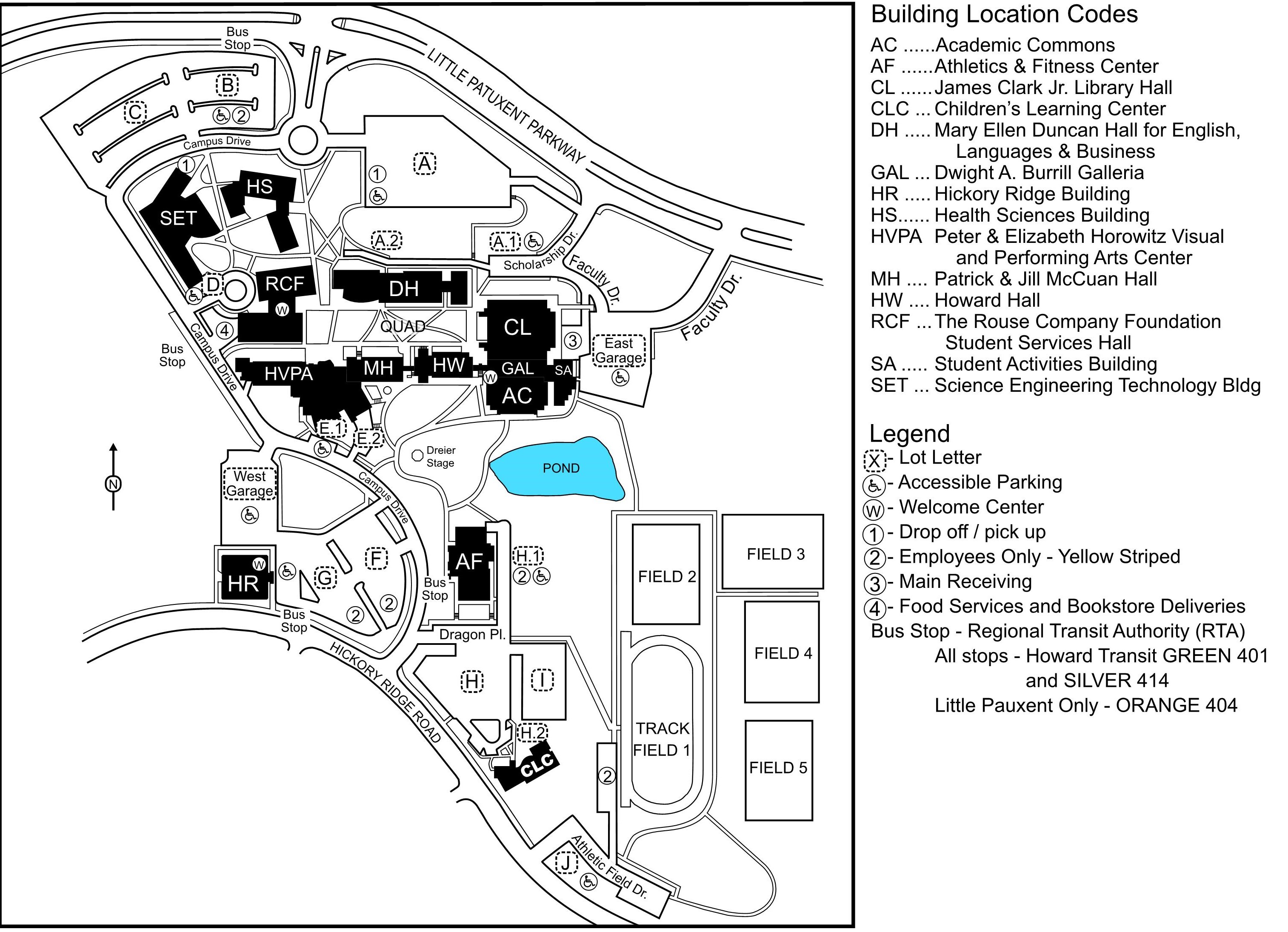 Campus Site Map | Howard Community College on county county ocean collegocean, gloucester county college building maps, county of mchenry county illinois map, ocean county tax maps,