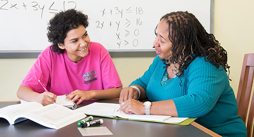 a student receiving tutoring