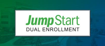 graphic with words Jump Start Dual Enrollment