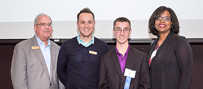 Adam Popps, the first prize winner at HCC's entrepreneurial celebration.