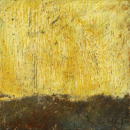 Georgia Nassikas Paintings: Horizon yellow encaustic on board 11x8