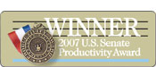 Winner - 2007 U.S. Senate Productivity Award